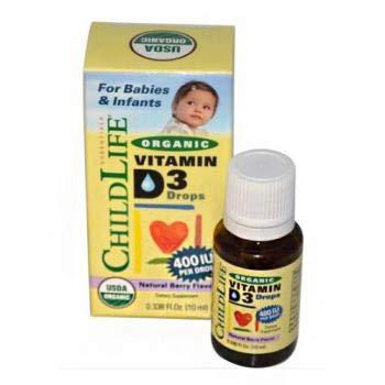 Child Life Organic Vitamin D3 Liquid, Natural Berry, 0.338 Fluid Ounce ( 1 Pack )