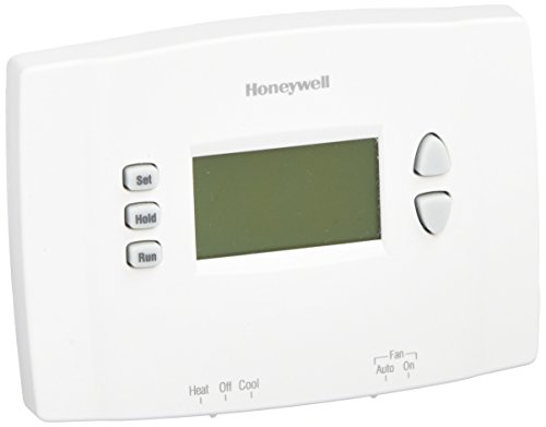 Honeywell RTH2510B1000A Thermostat, White (Programmable Thermostat For Heat Pump With Auxiliary Heat)