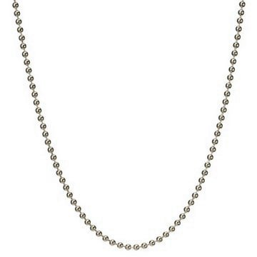 2.5mm Solid Round Link Ball Beaded Chain Necklace & Bracelet Italian .925 Sterling Silver 7