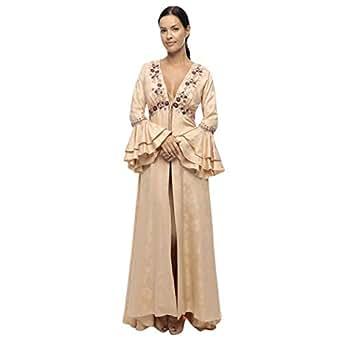 Lea Lingerie Orange Satin Robe For Women