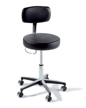 Ritter Physician Stools (Midmark Backrest Round Physician Stool Ultra Arctic , 18 to 24-1/2 Inch)