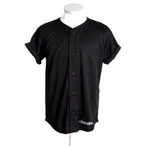 check out 33a37 882c0 Scarcewear kids plain black baseball jersey: Amazon.co.uk ...