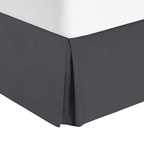 De Moocci Never Lift Your Mattress, Generous 16'' Drop Wrap Around Style Tailored Bed Skirt,