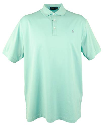 (Polo Ralph Lauren Men's Big & Tall 3-Button Mesh Polo Shirt-G-XLT Green)