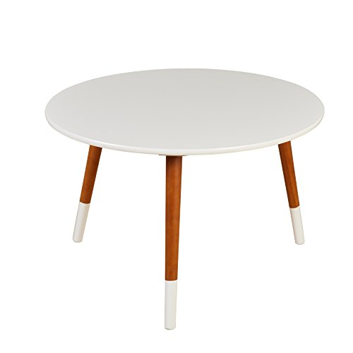Target Marketing Systems Livia Collection Ultra Modern Round Coffee Table With Splayed Leg Finish, - Coffee Table Collection Round