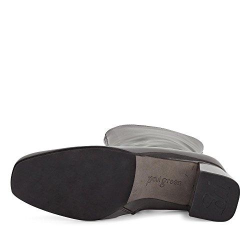 Paul Green 8041-008 Damen Stiefelette Aus Lackleder Dezente Laufsohle mit Absatz Grau