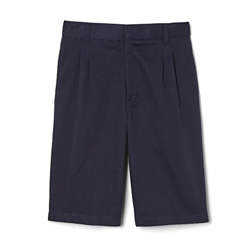 - French Toast  Boys' Pleated Adjustable Waist Short, Navy, 12,Big Boys
