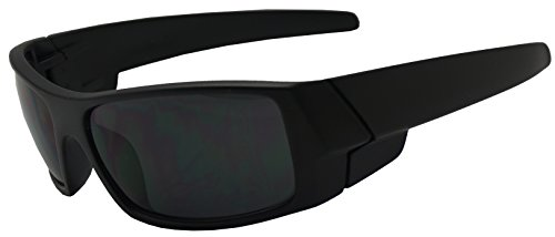 Men Limited Edition Super Dark Shades Wrap Around Motorcycle Biker Sunglasses (Matte Black, - Biker Shades