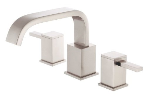 Danze D300933BNT Reef Two Handle Roman Tub Faucet Trim Kit, Valve Not Included, Brushed Nickel -