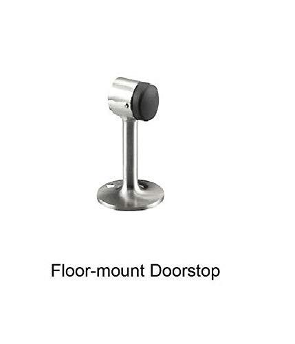 5 inch Brushed Chrome Heavy Duty Floor Door Stop Bumper Solid Brass 1472-626 26D E63235