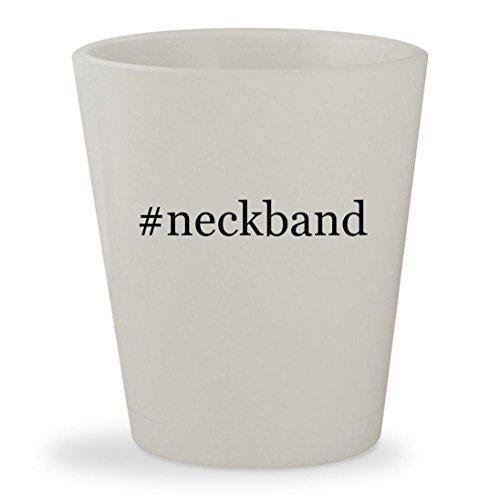 Price comparison product image neckband - White Hashtag Ceramic 1.5oz Shot Glass