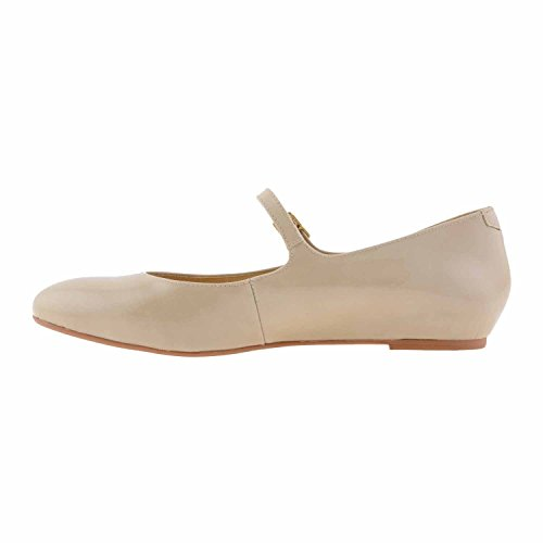 Cuir verni Mary Janes Taille: 39 Couleur: BEIGE