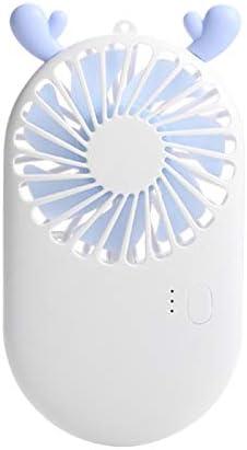 Rechargeable Handheld Fan Women and Children Portable Cooling Fan for Teenager Students Color : Blue, Size : 7.82.713.8cm Liuxina 夏用ファン Office Desktop Fan