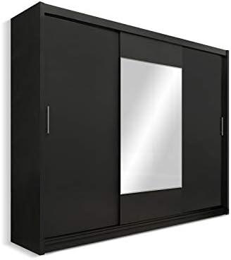 Corazones moderno Armario 3 puertas correderas con espejo grande: Amazon.es: Hogar