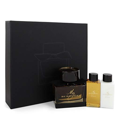 My Burberry Black by Burberry Gift Set - 3 oz Eau De Parfum Spray + 2.5 oz Body Lotion + 2.5 oz Shower Gel / - (Women)