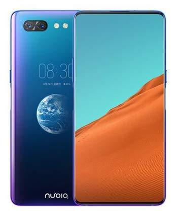 ZTE Nubia X 4G LTE Mobile Phone Snapdragon 845 Android 8.1 6.26+5.1'' Dual Screen 8GB RAM 256GB ROM 16+24MP Fingerprint (Ocean Blue)
