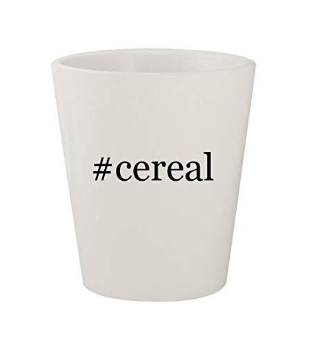 #cereal - Ceramic White Hashtag 1.5oz Shot Glass