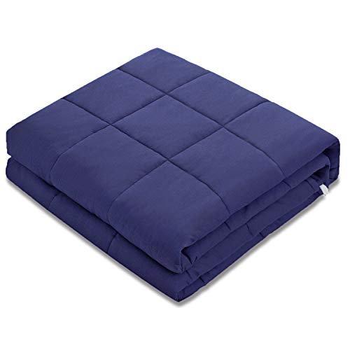 Amy Garden Weighted Blanket (48x72,15 lbs for 140-150 lbs Individual, Navy) | 2.0 Adults Heavy Blanket
