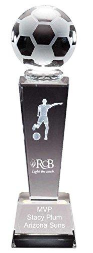 (Soccer Female Collegiate Series Crystal Trophy 8 3/4