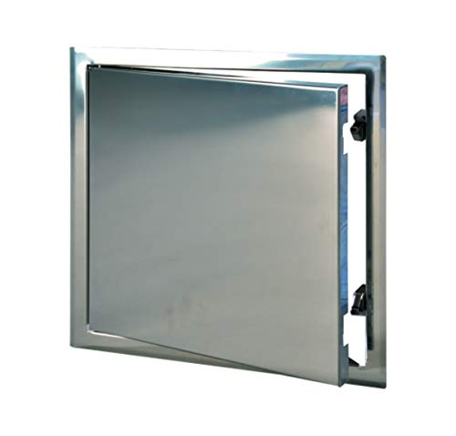 8x8 Stainless Steel Access Door with Touch Latch for Walls and Ceilings, ()
