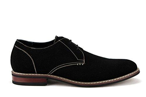 Ferro Aldo Mens 139002a Desert Toe Lace Up Oxford Scarpe Eleganti Nere