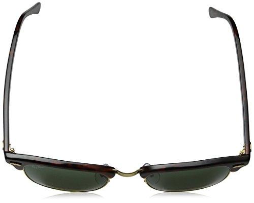 Ray-Ban CLUBMASTER – RED HAVANA Frame CRYSTAL GREEN POLARIZED Lenses 49mm Polarized