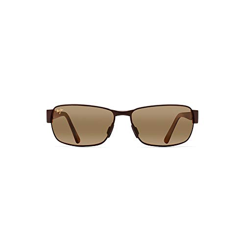 Maui Jim boysgirl's Black Coral H249-19M | Polarized Matte Espresso Rectangular Frame Sunglasses, One ()
