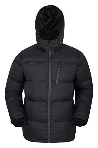 Mountain Warehouse Frost Extreme Mens Down Jacket -Warm Winter Jacket Black Medium