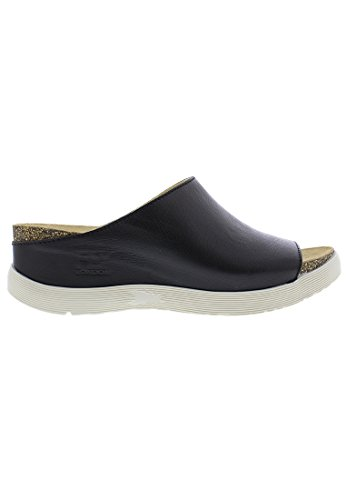 FLY London Wigg - Mousse Black (Leather) Womens Sandals 75v33