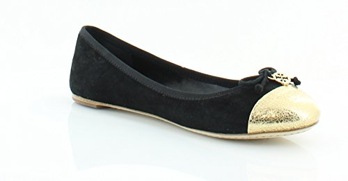 Gold Chelsea w Suede Soho Cap Lux Toe Burch Black Tory Ballet Flats OPBgxtw