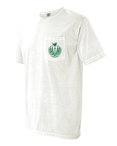 National Panhellenic Conference NPC Sorority Comfort Colors Pocket T-Shirt (X-Large, (Conference White T-shirt)