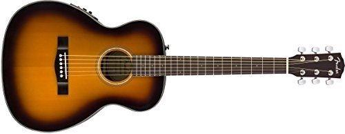 (Fender CT-140SE Acoustic-Electric Guitar with Case - Travel Body Style - Sunburst Finish)