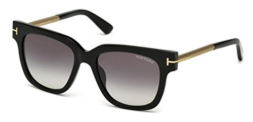 Tom Ford Women's Tracy TF436 TF/436 01B Black/Beige Fashion Sunglasses - Ford Sunglasses Tom Black