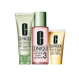 Clinique 3 Steps system for Oily / Oily Combination Skin Set: dramatically moisturizing Gel 4.2 oz / 125 ml + Clarifying Lotion 3 13.5 oz / 400 ml + Liquid Facial Soap Oily Skinild 6.7 oz / 200 ml