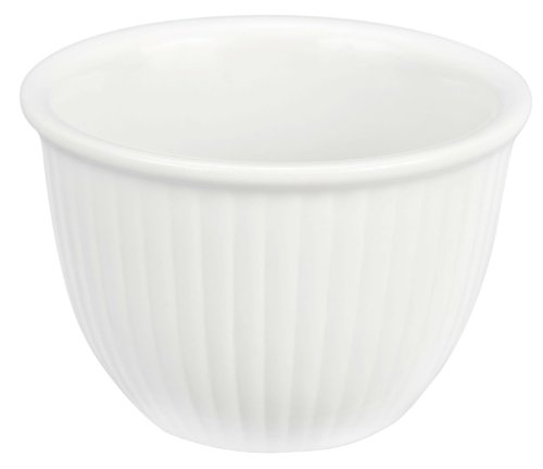 Porcelain Custard Cups - Bia Cordon Blue White Porcelain 7-Ounce Custard Cup, Set of 4