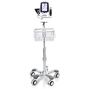 Rolling stand for Welch Allyn Spot vital sign minotor LXI , concave base by EASTSHORE