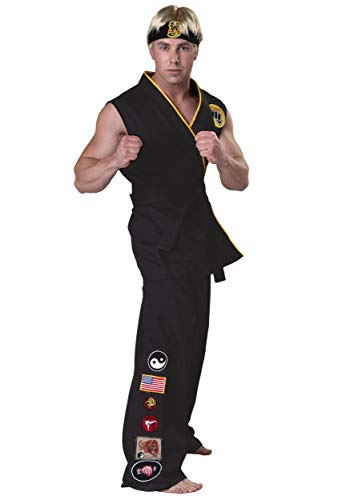 Authentic Karate Kid Cobra Kai Costume X-Small Black -