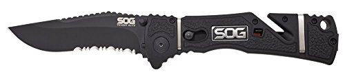 SOG Trident Assisted Partially Serrated
