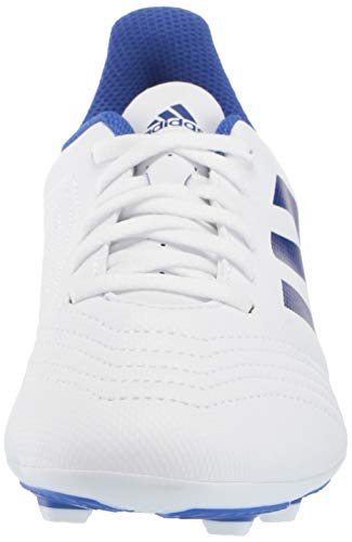 adidas Unisex Predator 19.4 Firm Ground Soccer Shoe White/Bold Blue/Bold Blue, 3 M US Little Kid by adidas (Image #4)