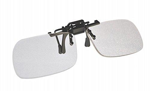 Gafas de lectura con lupa plegables, de clip, pequeñas y transparentes +2.00 dioptrías
