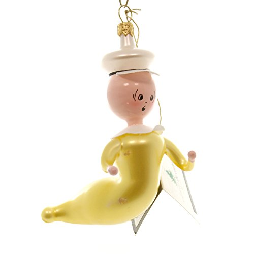 De Carlini SWEET PEA Glass Ornament Italian Popeye Ba1741m1]()