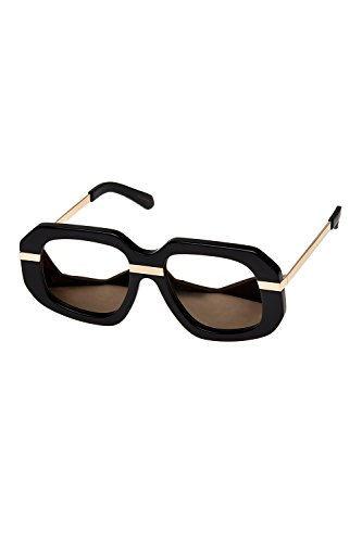 Karen Walker Superstars Creeper Womens Sunglasses Black Gold Mirrored Lenses (Karen Sunglasses)