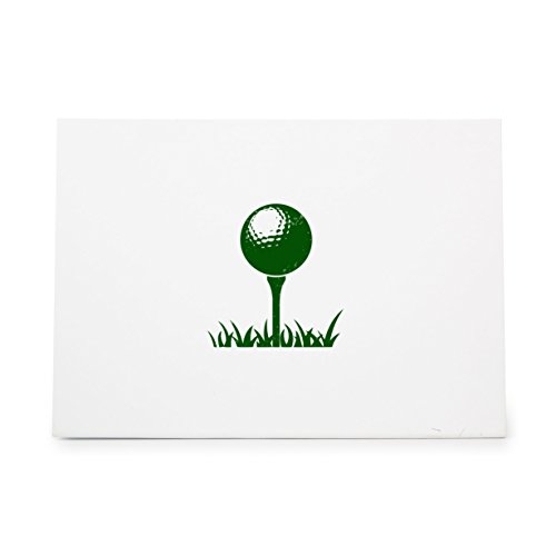 Golf Ball Stick Sport Grass Style 7364, Rubber Stamp Shape great for Scrapbooking, Crafts, Card Making, Ink Stamping Crafts