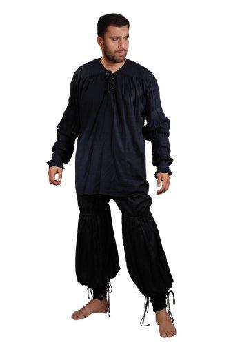 Armor Venue - Swordsman Pants - Medieval/Renaissance Costume - Black XX-Large