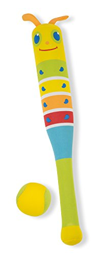 (Melissa & Doug Sunny Patch Giddy Buggy Padded Bat and Soft Ball Set)