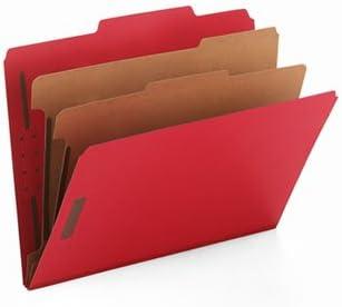 Smead ®カラー厚紙トップタブの分類フォルダーwith 2つ仕切りフォルダ、Clas Ltr、BRD ( of2 )パック