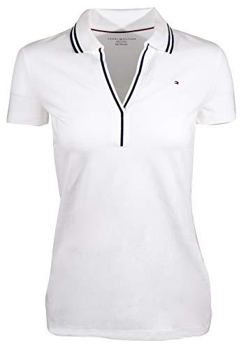 (Tommy Hilfiger Womens Split-Neck Polo Shirt (XX-Large, White))