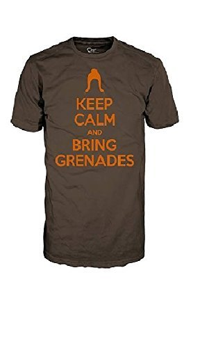 Firefly Serenity Keep Calm & Bring Grenades Brown T-Shirt | XL