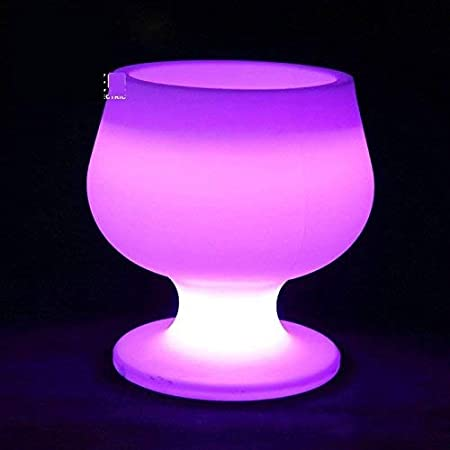 ZBJJ Barra de Cubos de Hielo con luz LED KTV Barril de champán Colorido en Forma de Jarra de Cerveza Redondo Creativo Barril de Vino Grande