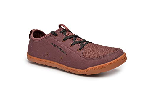Astral Men's Loyak Everyday Outdoor Minimalist Sneakers, Lightweight and Flexible, Made for Water, Casual, Travel, and Boat, Beet Red, M9 ()